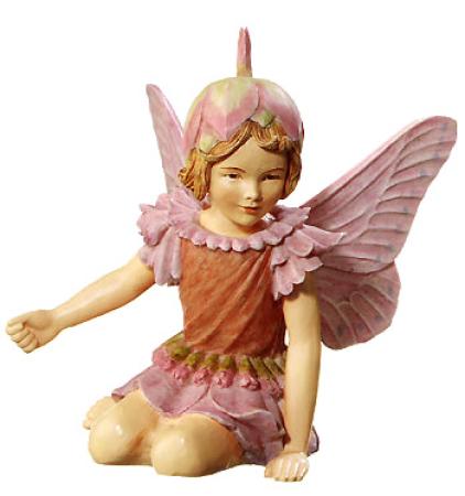 Flower Fairy Schafgarbe Elfe Figur am Sockel